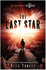 The Last Star by Rick Yancey This is the third and final book in the 5th Wave series. If you don't know what the 5th wave is, it is about aliens called the Others that invade the Earth in waves. This story follows a girl who needs to get back to brother. This book is a continuation to the series. This book comes out on May 24th, 2016.