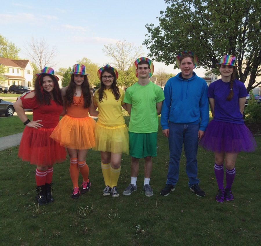 From left:  Maddy Rohn, Adrien Tarkowski, Kyle DeFalco, Dylan Humiston, and Alaina Thompson
