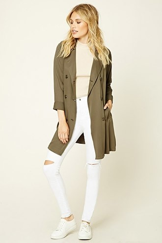 Sash-Tie Trench Coat Forever 21 $29.90