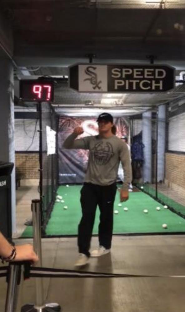 Ryan Vice pitches 97mph at the White Sox game