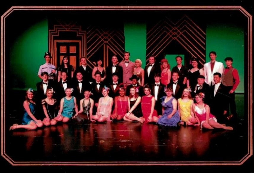 The Great Gatsby cast poses for a picture after their performance