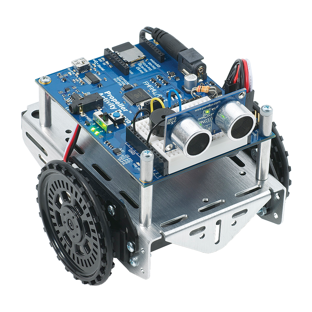Robotics club works with activitybots to learn engineering.