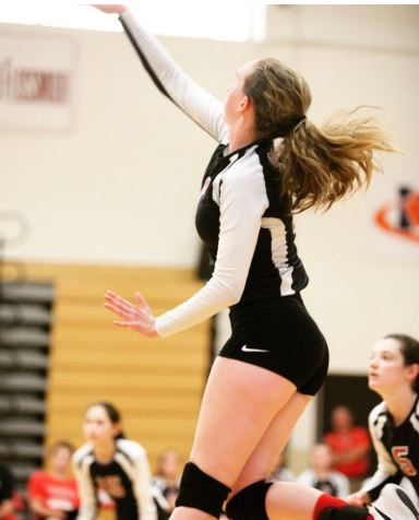 Nicole Connolly plays volleyball for the Knights