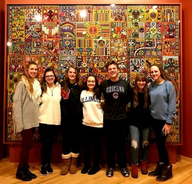 Members of the Spanish National Honors Society pose during their field trip