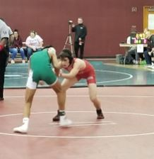 Junior Colin Hobert takes on his oponent
