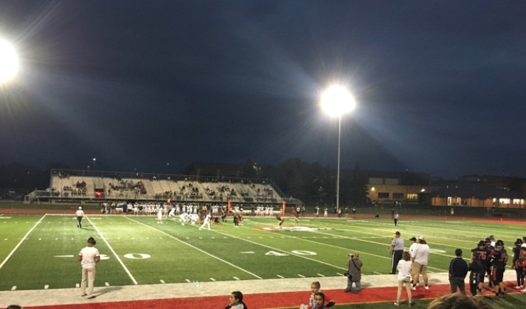 The Knights back on the football field